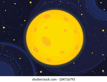 Moon vector illustration