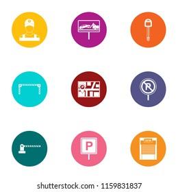 Moorage icons set. Flat set of 9 moorage vector icons for web isolated on white background