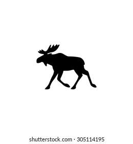 Moose. Black simple vector icon