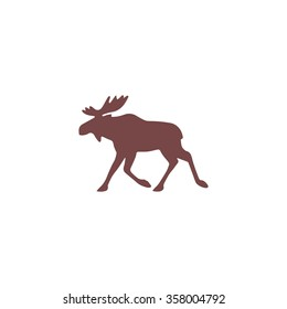 Moose. Colorful vector icon. Simple retro color modern illustration pictogram. Collection concept symbol for infographic project and logo