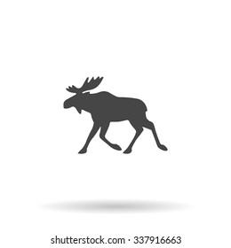 Moose. Icon Vector