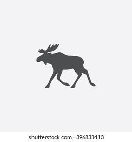 Moose Icon Vector.