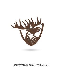 Moose symbol - vector illustration