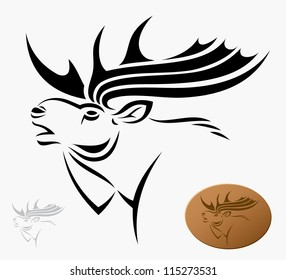 Moose - vector illustration