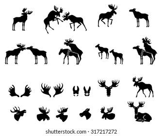 moose vector silhouette
