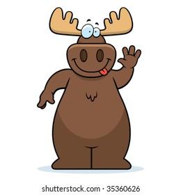 Moose Waving