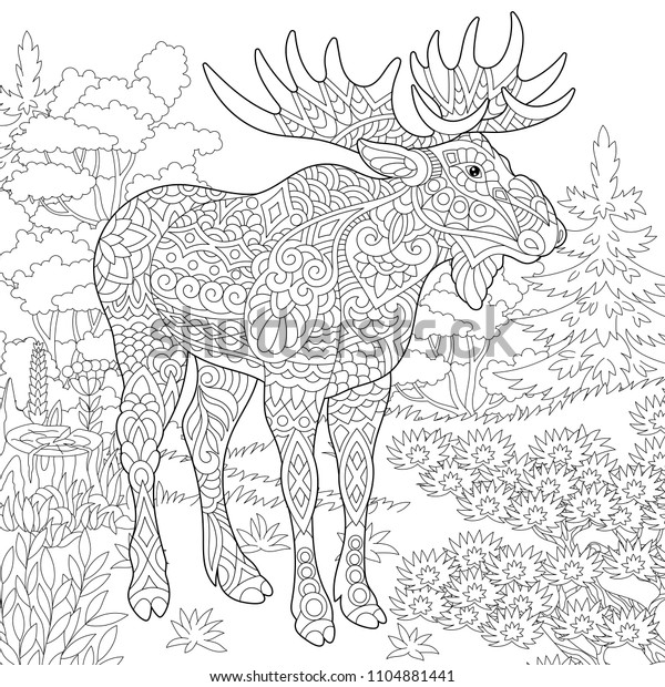 printable woodland animal coloring pages – eargear.me | 620x600