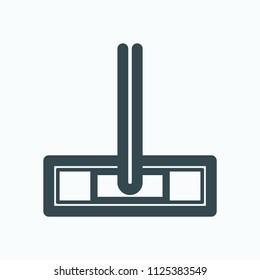 Mop icon, microfiber mop system vector icon