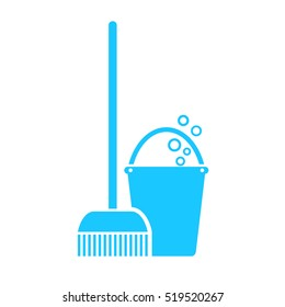 Mop swab icon vector illustration on white background. Mopping mop icon. Cleaning mop icon. Mopping sign.