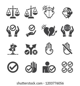 Moral,Fair icon set