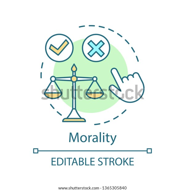Morality Concept Icon Ethical Decision Making Stock Vector