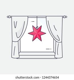 Moravian (advent) star illustration