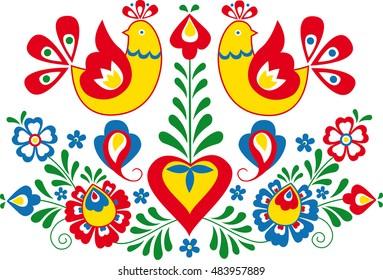Moravian folk ornament