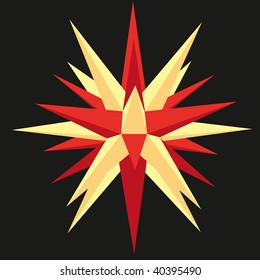 Moravian star red/yellow