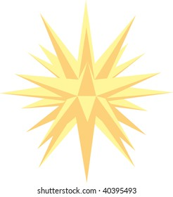 Moravian star yellow