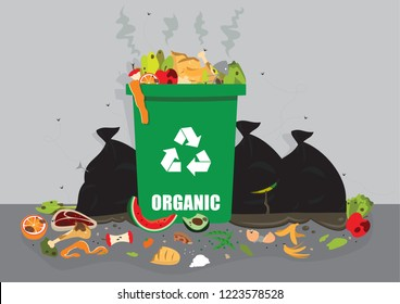more food waste over organic bin