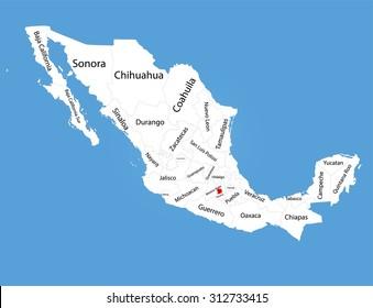 Imágenes Fotos De Stock Y Vectores Sobre Mapa República Mexicana
