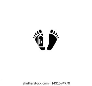 Morgue feet vector isolated flat illustration. Morgue feet icon