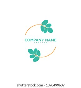 moringa circle logo design template