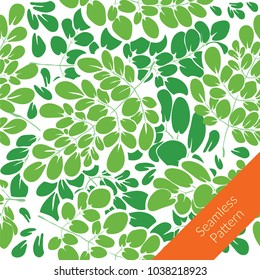 moringa leaves pattern design. nature pattern. background design.