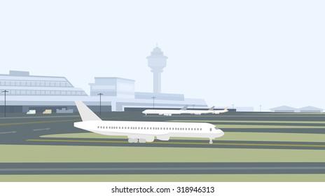 Morning  Airport Runway