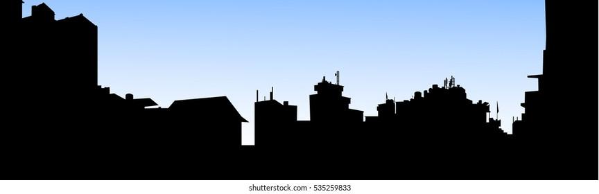 Morning City Skyline - vector