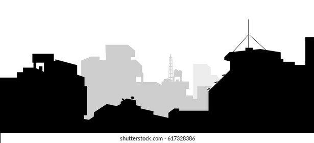 Morning City Skyline- Vector