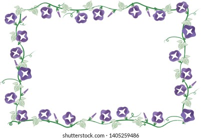 Morning glory flower frame japanese style