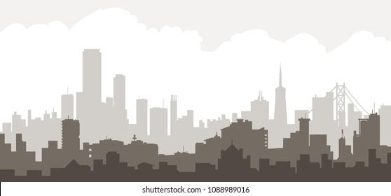 Morning San Francisco Skyline Morning San Francisco Skyline is a vector city skyline.