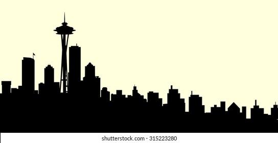 Morning Seattle Washington City Skyline
