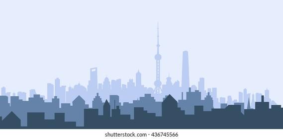 Morning Shanghai - Vector