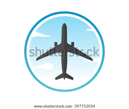 Morning Sky Plane Airport Flight Airline Stock Vector Royalty Free