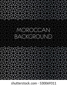 Moroccan Background with border and geometric pattern.