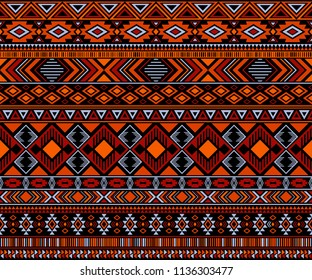 Moroccan design tribal ethnic motifs geometric seamless background. Vintage moroccan tribal motifs textile print ethnic traditional design. Kaftan clothes pattern with chevron zigzag.