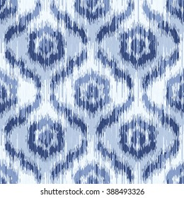 Moroccan faux tribal fabric flower ikat pattern seamless vector background tile