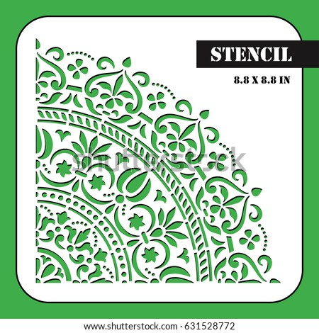 Moroccan Stencil Template Can Be Used Stock Vector Royalty Free
