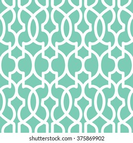 Moroccan trellis pattern seamless vector background tile