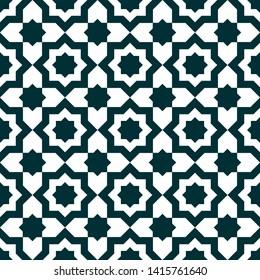 Moroccan Zellige Art Textures Vector