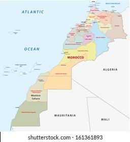 morocco administrative map