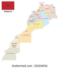 Western Sahara Map Capital Laayoune National Stock Vector 495618982