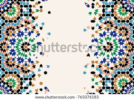 Morocco Disintegration Template Islamic