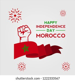morocco independence day design greeting