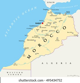 Map Of Morocco Images Stock Photos Vectors Shutterstock
