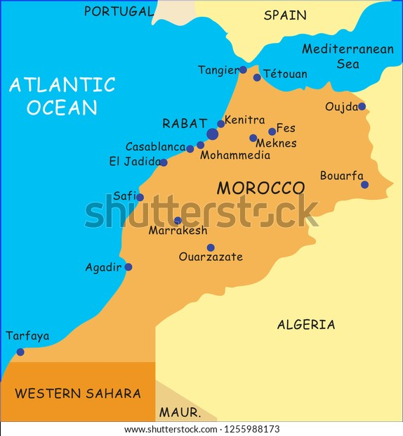 Morocco Map Illustrator Stock Vector (Royalty Free) 1255988173 on buenos aires map, internet map, word map, world map, print map,