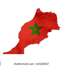 Morocco Map National flag icon