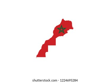 Morocco map outline country shape national borders state