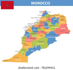 Flag Map Of Morocco Images Stock Photos Vectors Shutterstock