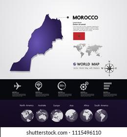 Morocco Map vector illustration