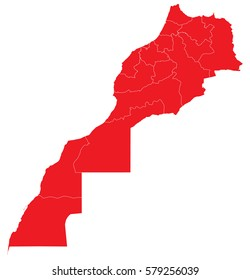 morocco red map