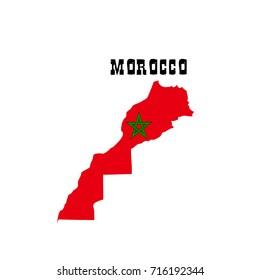 Morocco-map-flag-vector